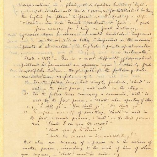 Χειρόγραφη επιστολή του Τζων Καβάφη προς τον Κ. Π. Καβάφη σε δύο τετρ�