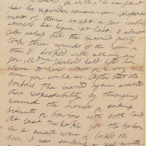 Χειρόγραφη επιστολή του Μικέ Ράλλη προς τον Καβάφη, σε δύο τετρασέλι
