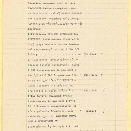 Τρεις δακτυλόγραφες δηλώσεις φόρου και τελών κληρονομίας Κωνσταντί